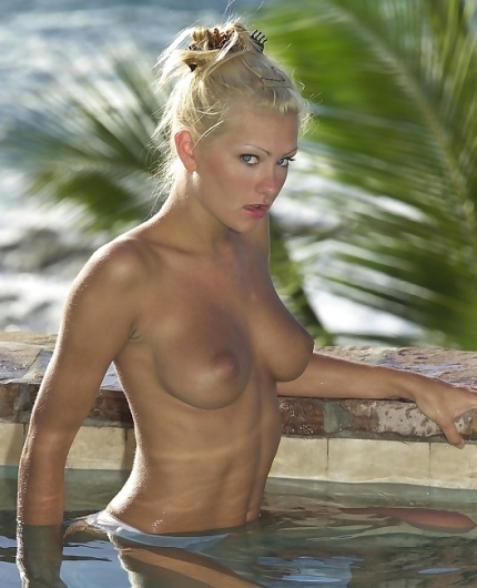 Natasha Marley pool girl