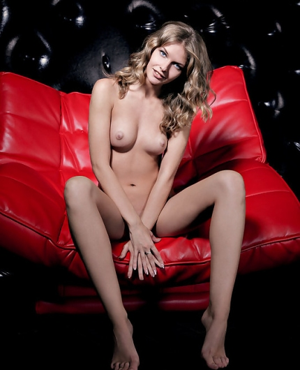 Catherine A red chair