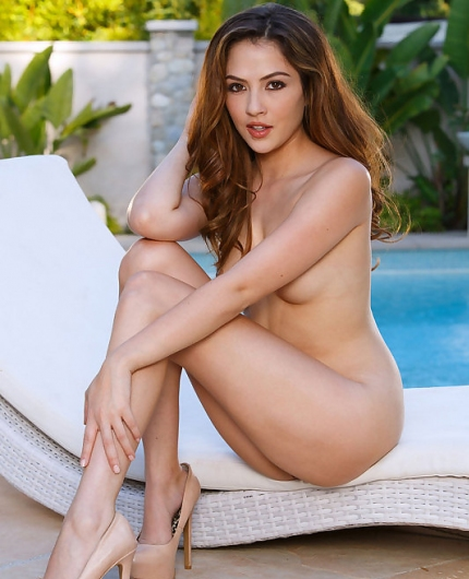 Cassie Laine by pool