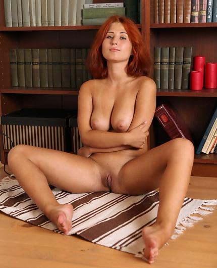 April In Library By Av Erotica