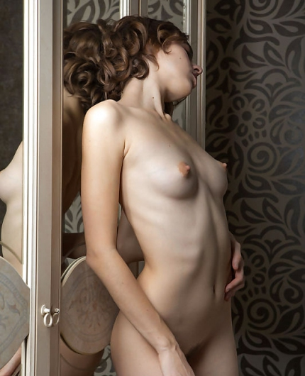 Gracie Lovely Reflection By Met Art X