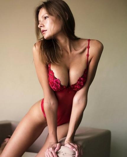 Luba Shumeyko lingerie striptease