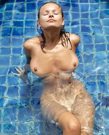 Luba Shumeyko in a pool
