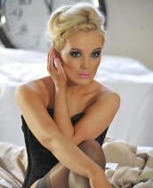 Faye Taylor black lingerie
