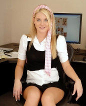Alison Angel in the office