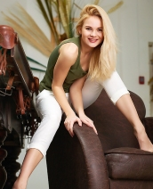 Blonde model Talia