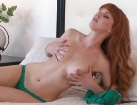 Marie McCray green lingerie