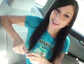 Catie Minx car fun video