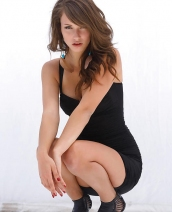 Malena Morgan in black