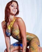 Cali Logan body painting