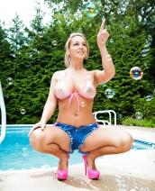 Nikki Sims Bubble Bikini