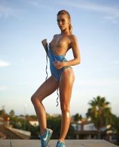 Amber Sunset Fitness By Hegre Art