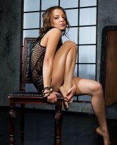 Sweet-faced Russian Brunette Nikia By The Life Erotic