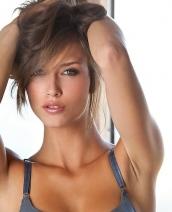 Malena Morgan in grey lingerie