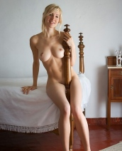 Corinna In A Vintage Bedroom